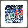 Bicycles In A Row San Diego Framed Print