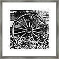 Big Wheel Bw Framed Print by Mel Steinhauer