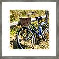 Bike At Nantucket Beach Framed Print