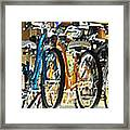 Bikes Hanging Around Framed Print