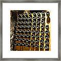 Biltmore Estate Wine Cellar -stored Wine Bottles Framed Print