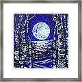 Birches With Shining Water Framed Print