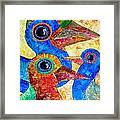 Birds 736 - Marucii Framed Print
