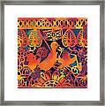 Birds Carnival Framed Print by Nekoda  Singer