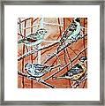 Birds In Tree Framed Print by Linda Vaughon