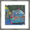 Bisbee Arizona Art Car Framed Print