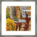 Bistro Table-color Framed Print