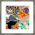 Bizzarro Colorful Psychedelic Floral Abstract Framed Print