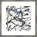 Black And Silver Framed Print