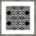 Pattern Black White Abstract Art No.301. Framed Print