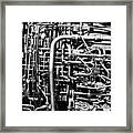 Black And White Jet Engine Framed Print by Dan Sproul