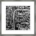 Black And White Jet Engine Framed Print