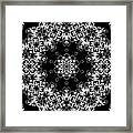 Black And White Medallion 1 Framed Print