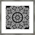 Black And White Medallion 10 Framed Print