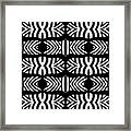 Pattern Black White Art No.302. Framed Print
