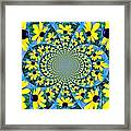 Black Eyed Susan Kaleidoscope Framed Print