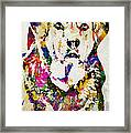 Black Lab Watercolor Art Framed Print
