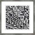 Black Thai Fabric 03 Framed Print