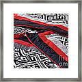 Black Thai Fabric 04 Framed Print
