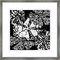 Black White And Gray Framed Print