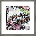 Blackhawks Parade Mtd Police Framed Print
