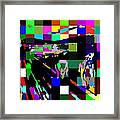 Blocked Scream Framed Print