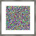 Blocks And Swirls Framed Print