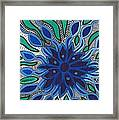 Blooming In Blue Framed Print