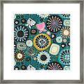 Blooms Teal Framed Print