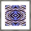 Blue 42 Framed Print