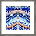 Blue Agate Abstract II Framed Print