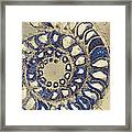 Blue Ammonite Framed Print