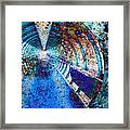 Blue And Rust Grunge Tunnel Framed Print