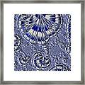 Blue And Silver 1 Framed Print