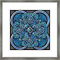 Blue And Silver Celtic Cross Framed Print
