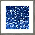 Blue Bubbles Framed Print