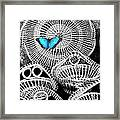 Blue Butterfly Charleston Framed Print