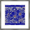 Blue Cosmos Abstract Framed Print