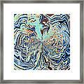 Blue Crazy Lace  Framed Print