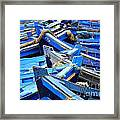 Blue Fishing Boats Framed Print
