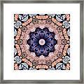 Blue Flora Mandala Framed Print