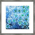Blue Floral Fantasy Framed Print