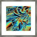 Blue Flowpaper Solarized Framed Print