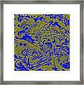 Blue Gold 40 Framed Print