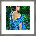 Blue Ice Princess Framed Print