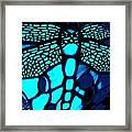 Blue Imitation  Framed Print