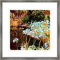 Blue Lily Water Garden Framed Print