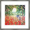 Blue Mare's English Summer Garden Framed Print