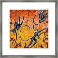Blue Monkeys No. 9 - Study No. 4 Framed Print