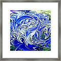 Blue Mophead Hydrangea Abstract Framed Print